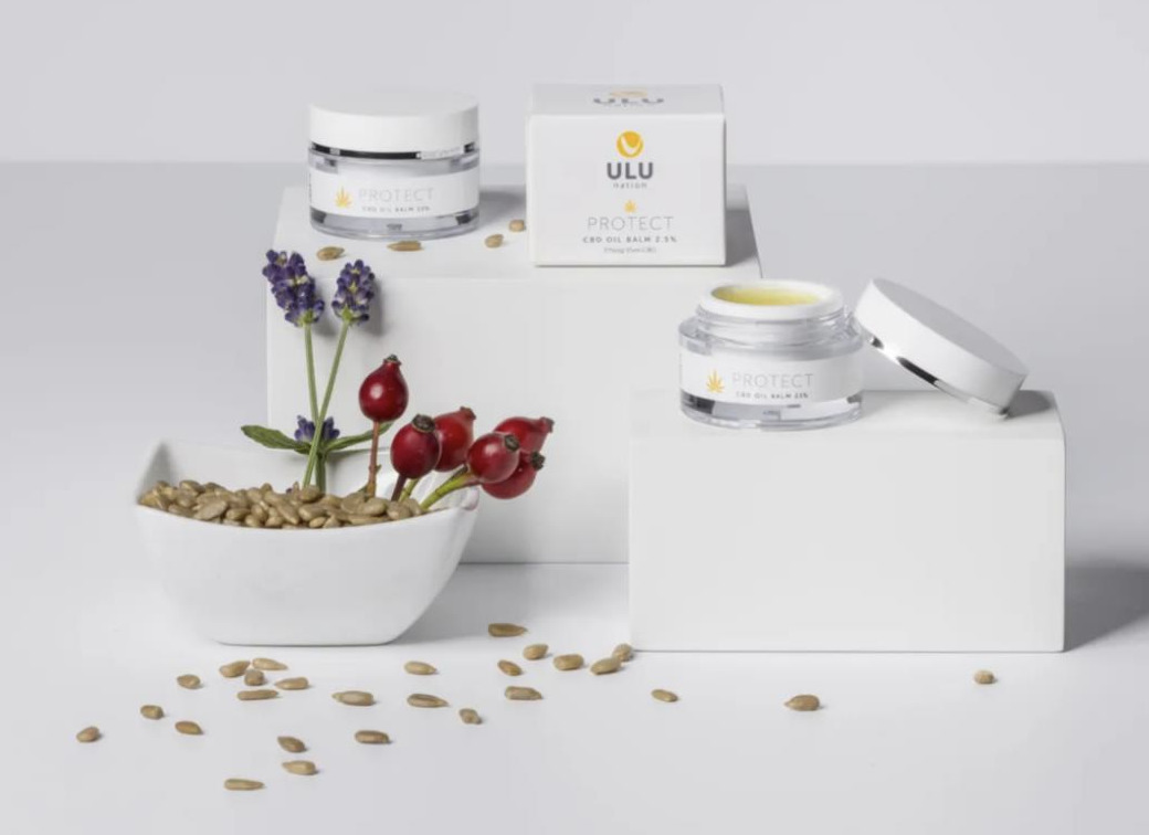 ULU CBD skincare range featuring CBD oil UK